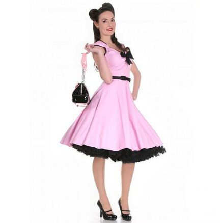 Roze swingdress