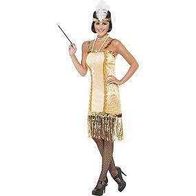Gouden flapper jurk